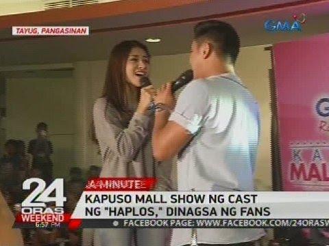 Kapuso mall show ng cast ng 'Haplos,' dinagsa ng fans