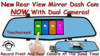 Amazing In Mirror Dashboard Dual Camera with Backup by SENDOW review - model X508
