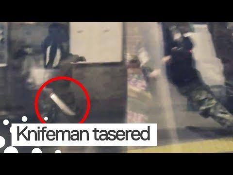 Xxx Mp4 Man Carrying Machete Gets Tasered On London Platform 3gp Sex