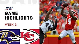 Ravens vs. Chiefs Week 3 Highlights | NFL 2019