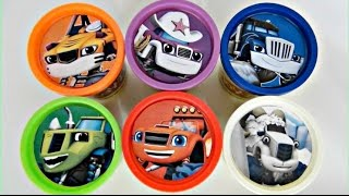 Blaze and the Monster Machines Play doh Toy Surprises, Hot Wheels, Cars, Learn Colors / TUYC