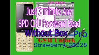 How to any Spd Cpu Password Read Or Unlock  Bangla Tutorial 100% Teast