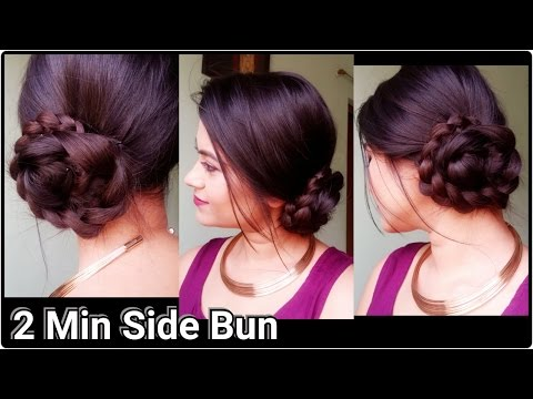 Xxx Mp4 2 Min Side Bun Indian Hairstyles For Saree For Medium To Long Hair Prom Party Hairstyles 3gp Sex
