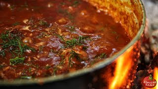 THE BEST GOULASH (BUFFALO)! - Epic Forest Cooking!