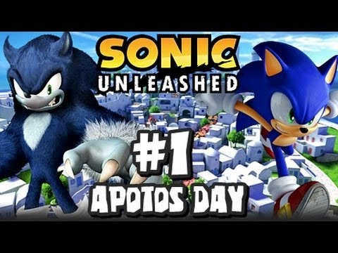 Sonic Unleashed 360 PS3 1080p Part 1 Opening & Apotos Day