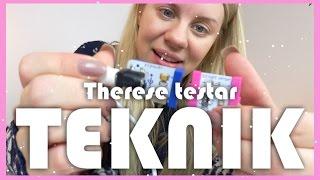 Therese Testar TEKNIK - Godislarm och sms-maskin