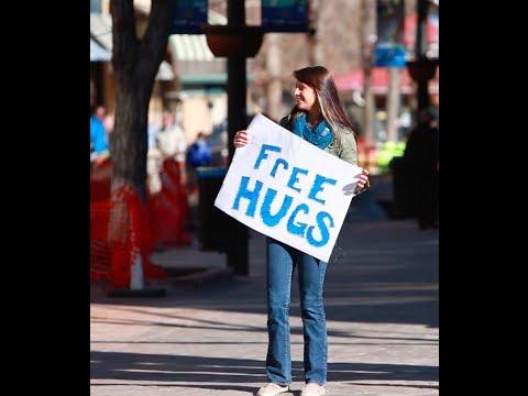 Free Hugs By Beautiful Woman