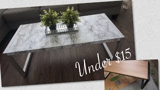 DIY marble coffee table for under $15