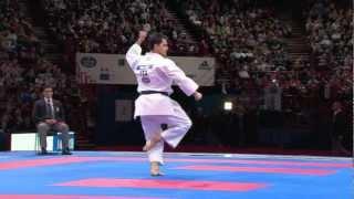 Luca Valdesi vs Jonathan Mottram. Bronze Male Individual Kata. WKF World Karate Championships 2012