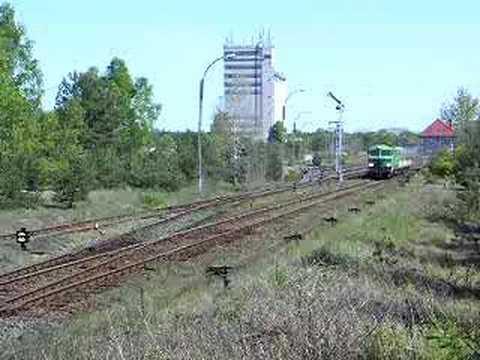 SU46 014 z pociągiem Zielona Góra Żagań