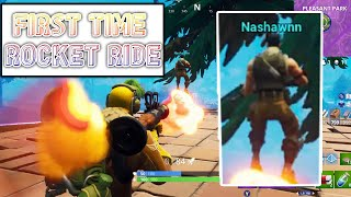 NASHAWN Rocket Rides For The First Time FUNNY MOMENTS