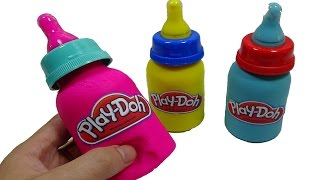 Peppa PIg & Play DOh Milk! - Create playdoh Milk bottles and paint tools frozen toys