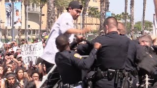 Political Protesters Attack the San Diego Police