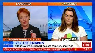 Pauline Hanson on same-sex marriage