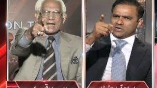 Abid Sher Ali and Ahmed Raza Kasuri abusing each other - On The Front - Dunya News