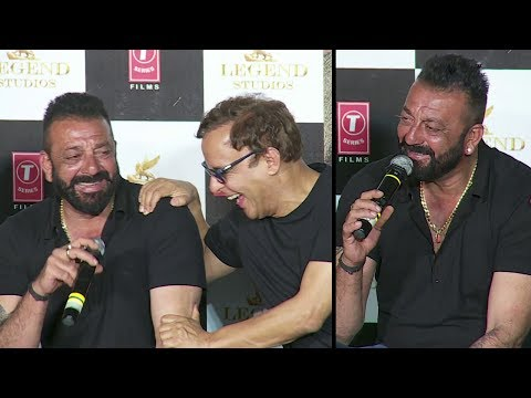 Sanjay Dutt's FUNNY Moments With Reporters At Bhoomi Trailer Launch