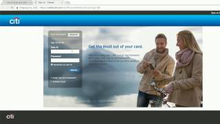 how to login into citibank online banking account united states
