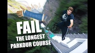 I FELL OFF the WORLDS LARGEST PARKOUR COURSE