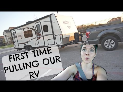 BRINGING HOME OUR RV PULLING A TRAILER FOR THE 1ST TIME EVER