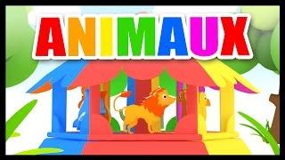 Apprendre les animaux - Dessin animé pour enfants - Le manège