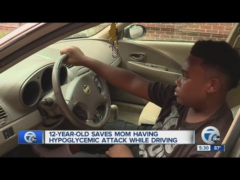 12 year old saves mom having hypoglycemic attack while driving