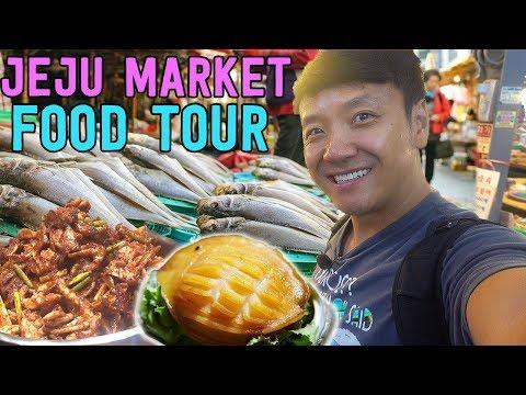 "TRADITIONAL Korean Market FOOD TOUR ""Five Day Market"" in South Korea"