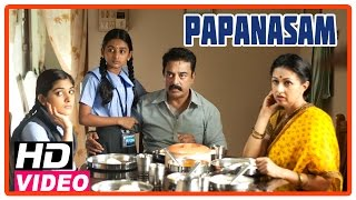 Papanasam Tamil Movie | Scenes | Gautami and kids asks to Kamal Haasan to take them for outing