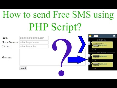 How to Send Free SMS using PHP? [With Source Code]
