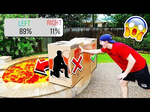 DON T PUSH THE WRONG MYSTERY BOX INTO LAVA