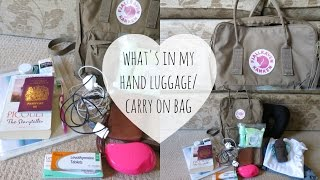 What is in my Hand Luggage/Carry on Bag!