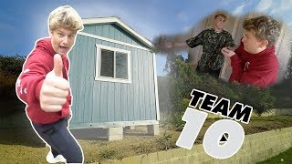 I built my own TEAM 10 HOUSE!!!