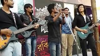 Protyasha '' Punorjonmo '' Live at Bangla Rock Magazine Stall , Kolkata Book Fair , 2017