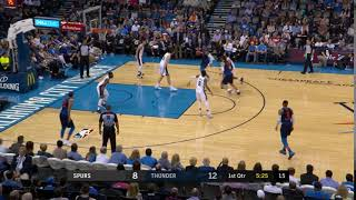 Carmelo Anthony-Steven Adams pick-and-roll