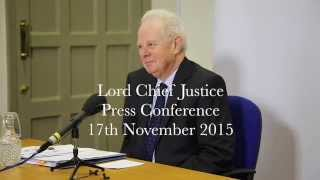 Lord Chief Justice press conference 17 November 2015 full video