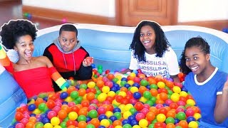 Last To Leave Ball Pit Challenge Wins Shopping Spree - Onyx Family