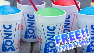 HOW TO GET FREE SLUSHES AT SONIC EVERY TIME!!!