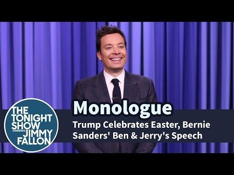 Trump Celebrates Easter Bernie Sanders Ben & Jerry s Speech Monologue
