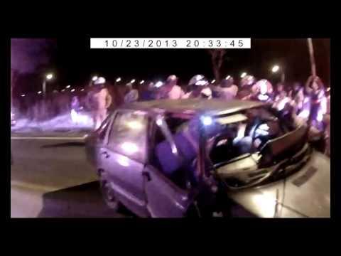 Colisão frontal de carros na pista Esaf Paranoá 23 10 2013 sem vítimas fatais
