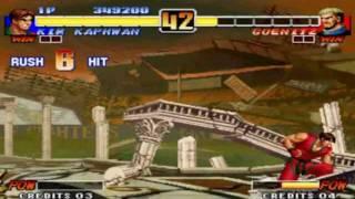 KOF96: Kim vs Goenitz (Level 8)