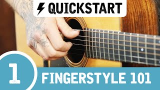 The BEST Beginner Fingerstyle Guitar Lesson