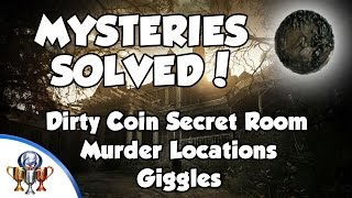 Resident Evil 7 Mysteries Solved - Dirty Coin,  For Use in Main Game (Murders, Notebooks & Giggles)