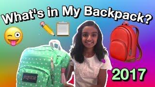 What's In My Backpack? 🎒2017 | Zeenia