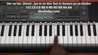 Tum Dil Ki Dhadkan Mein - (Piano Tutorials) - Dhadkan