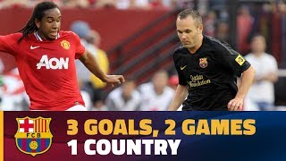 Barça's goals vs Manchester United in the USA