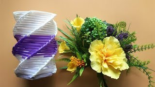 ABC TV | How To Make Vase From Drinking Straw - Craft Tutorial #1