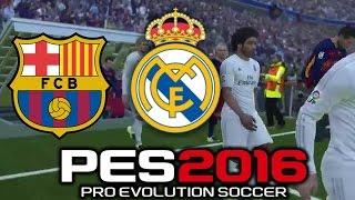 Pro Evolution Soccer 2016 FC Barcelona Vs Real Madrid (1080p 60fps)