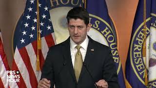 WATCH: House Speaker Paul Ryan holds weekly news briefing
