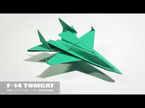 Best Paper Planes - How to make a paper airplane model for Kids | F-14 Tomcat