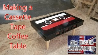Making a retro style cassette tape coffee table