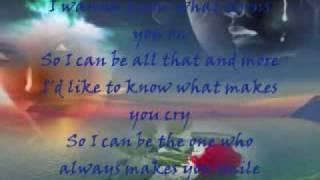 Joe - I Wanna Know (Lyrics)